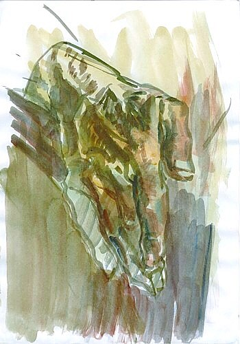 Hand, watercolor on paper, 21x29cm, 2003