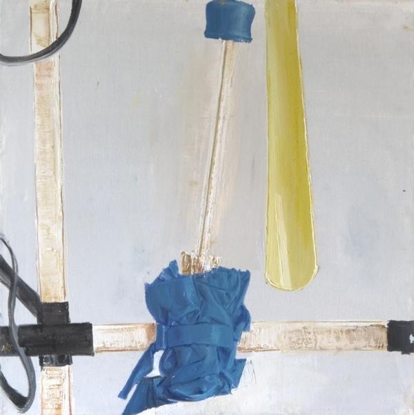 Still leif with umbrella, oil on canvas, 40x40cm, 2010