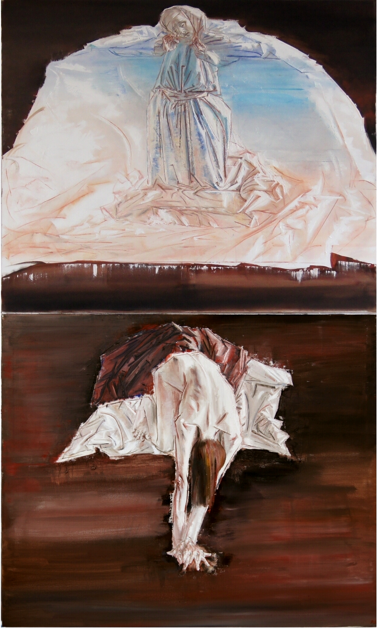 Pain, Diptych, oil on canvas, je 100x120cm, 2014