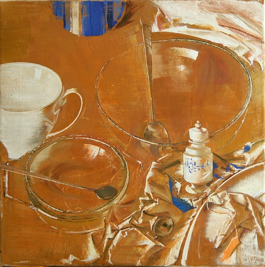 Still life, 40x40cm, oil on canvas, 2015