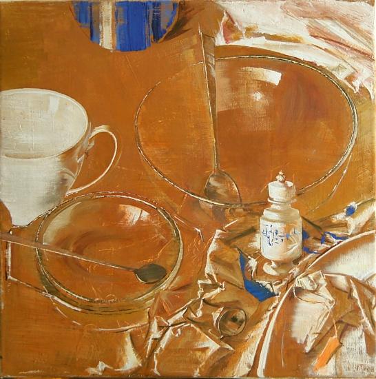 Still life, 40x40cm, oil on canvas, 2015