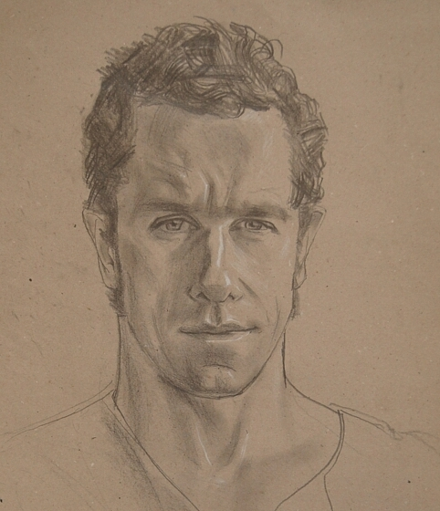 Olivier, pencil and chalk on paper, 35x29cm, 2016