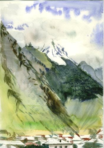 Landscape, watercolor on paper, 21x29cm, 2011