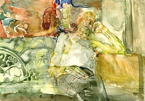 Grandfather, watercolor on paper, 40x60cm, 1994