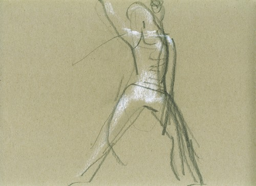 Sketch, pencil and chalk on paper, 21x29cm, 2008