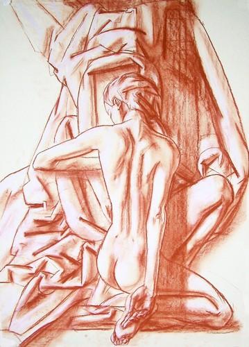 Nude, sanguine on paper, 50x70cm, 2004