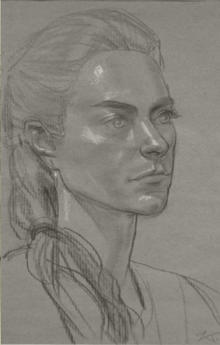 Adeleide, pencil and chalk on paper, 21x29cm, 2006