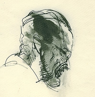 Father, ink on paper, 14x14cm, 1991