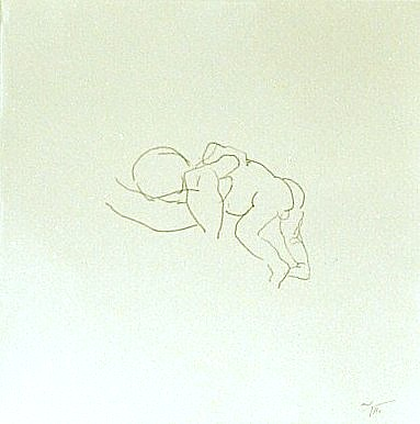 Newborn, sketch, pencil on paper, 21x21cm, 2004