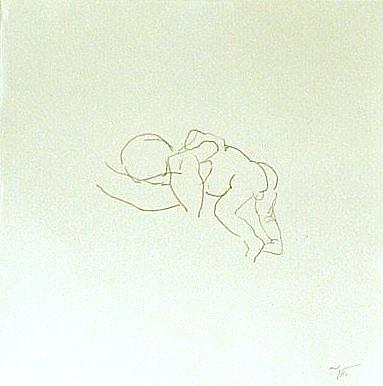 Newborn, sketch, pencil on paper, 21x21cm, 2004