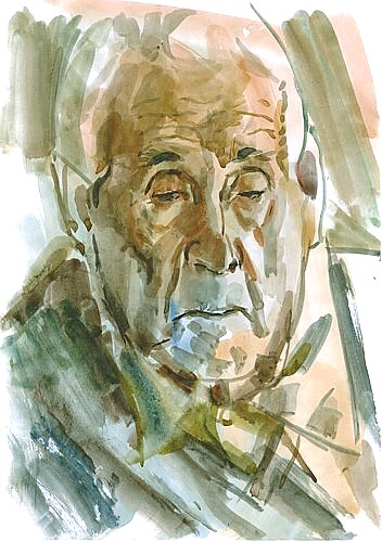 Grandfather, watercolor on paper, 21x29cm, 2002