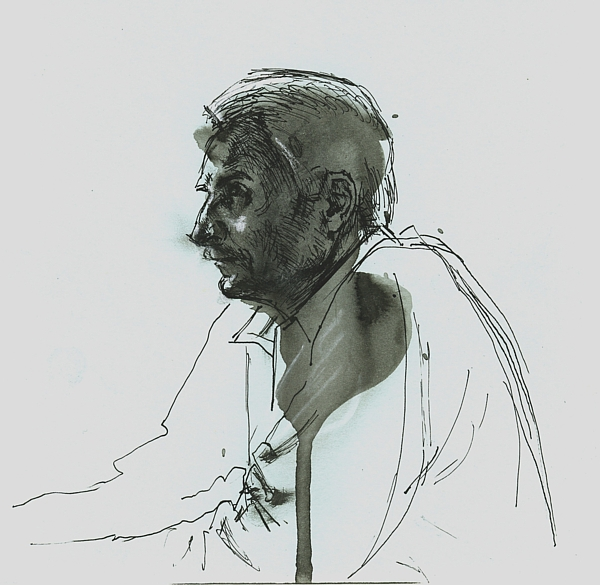 Portrait, ink on paper, 20x20cm, 2010