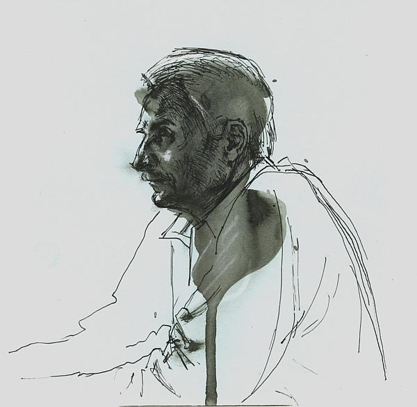 Portrait, ink on paper, 20x20cm, 2010