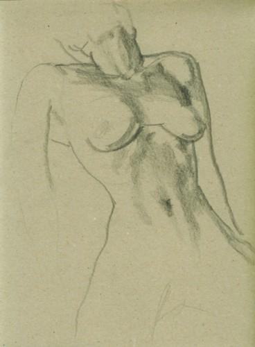 Nude, sketch, pencil on paper, 21x29cm, 2007