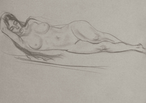 Nude, pencil on paper,  40x60cm, 2014