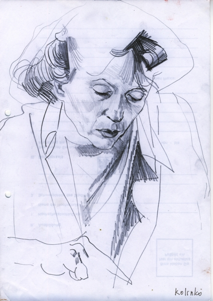 Sketch, pencil on paper, 21x29cm, 2002