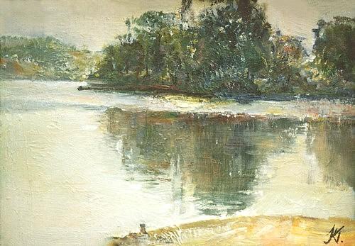 Ukrainian landscape, 30x20cm, oil on hardboard, 1992