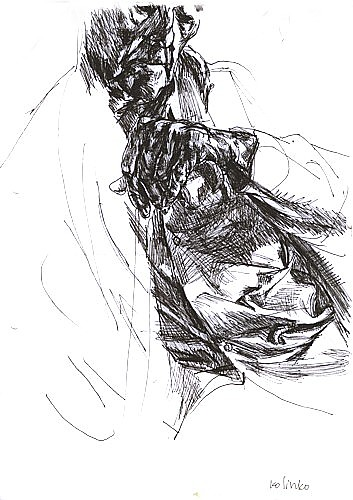 Grandfather, ink on paper, 29x21cm, 2002