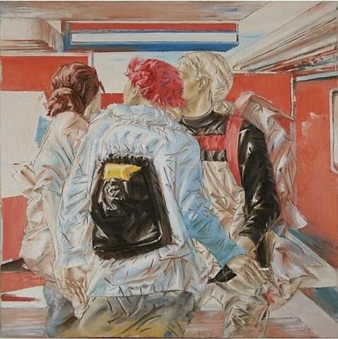 Journey, oil on canvas, 100x100cm, 2011x2012