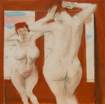 In Front of the Mirror, oil on canvas, 70x70cm, 2012