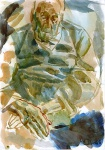 Grandfather, sketch, watercolor on paper, 21x29cm, 2002