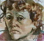 Mother, 17x15cm, watercolor on paper, 2003