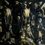 Holocaust, 100x100cm, oil on canvas, 2014