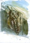 Hand, watercolor on paper, 21x29cm, 2002