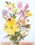 Flowers, watercolor on paper, 35x27 cm, 2014