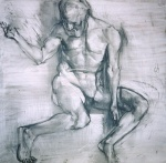 Untitled, charcoal on paper, 100x100cm, 1998