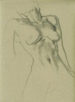 Nude, sketch, pencil on paper, 21x29cm, 2007